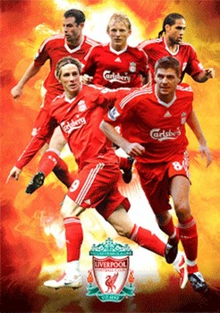 3D Poster LIVERPOOL - players 09/10 3D