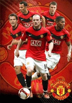 3D Poster MANCHESTER UNITED - players 09/10