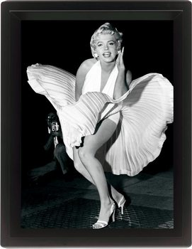 Framed 3Dposter MARILYN MONROE - seven year itch