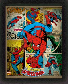 Framed 3Dposter Marvel Retro - Spider-man