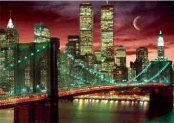 3D Poster NEW YORK - skyline colour 3D