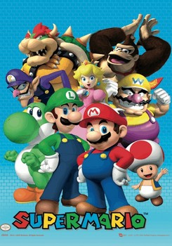 Nintendo - cast 3D Poster