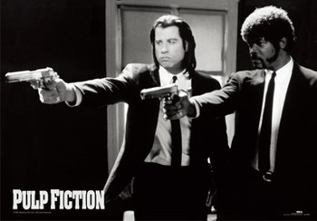3D Poster Pulp fiction - guns