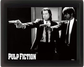 Framed 3Dposter PULP FICTION - guns