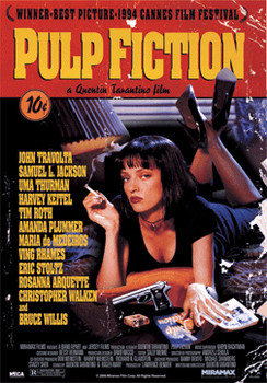 3D Poster PULP FICTION - one sheet