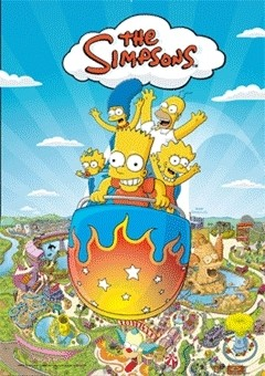 3D Poster THE SIMPSONS - krustyland