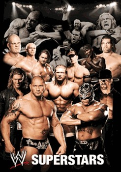 3D Poster WWE - collage 3D