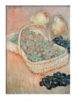 Poster emoldurado Claude Monet - The Basket of Grapes, 1884