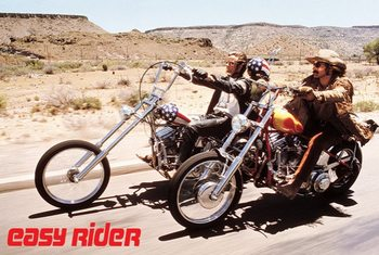 Poster emoldurado  Easy rider - bikes
