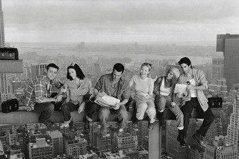 Poster emoldurado Friends - Lunch On A Skyscraper