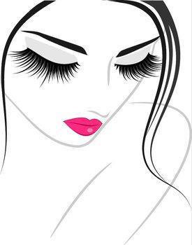Poster emoldurado Lash extension beauty icon