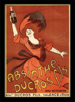 Absinthe Ducros Poster emoldurado de vidro