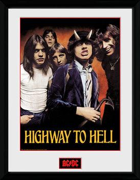 AC/DC - Highway to Hell Poster emoldurado de vidro