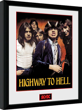 AC/DC - Highway to Hell Poster Emoldurado