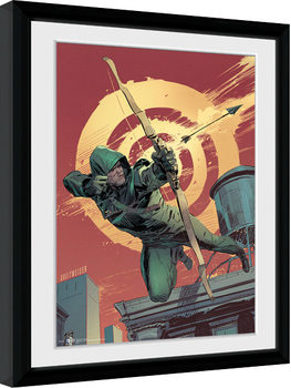 Arrow - Comic Red Poster Emoldurado