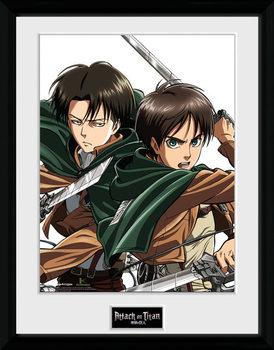 Attack On Titan - Levi Poster emoldurado de vidro