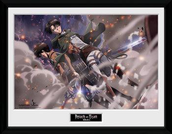 Attack On Titan - Smoke Blast Poster emoldurado de vidro
