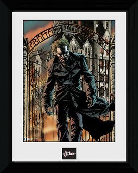 Batman Comic - Arkham Asylum Poster emoldurado de vidro