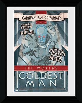 Batman Comic - Circus Coldest Man Poster emoldurado de vidro