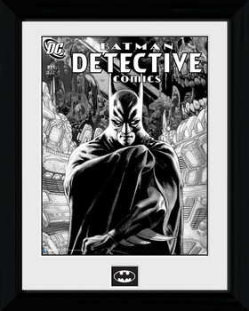Batman Comic - Detective Poster emoldurado de vidro