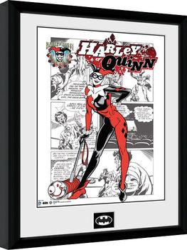 Batman Comic - Harley Quinn Comic Poster Emoldurado