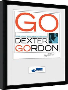 Blue Note - Dexter Poster emoldurado de vidro