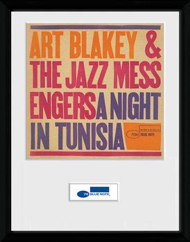 Blue Note - Tunisia Poster emoldurado de vidro