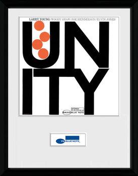 Blue Note - Unity Poster emoldurado de vidro