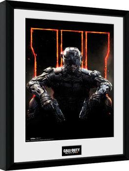 Call of Duty: Black Ops 3 - Cover Poster emoldurado de vidro