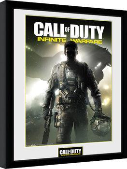 Call of Duty Infinite Warfare - Key Art Poster emoldurado de vidro