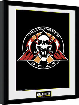 Call of Duty Infinite Warfare - Scar Logo Poster emoldurado de vidro