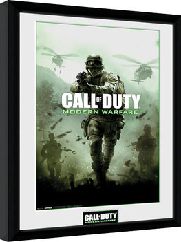 Call of Duty Modern Warfare - Key Art Poster emoldurado de vidro