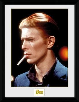 David Bowie - Smoke Poster emoldurado de vidro