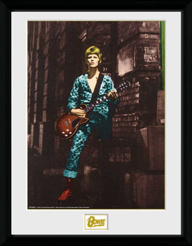 David Bowie - Street Poster emoldurado de vidro