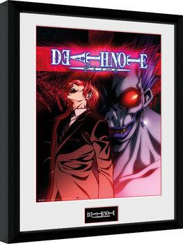 Death Note - Light & Ryuk Poster emoldurado de vidro