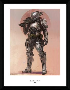 Destiny - Titan Poster emoldurado de vidro