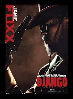 Django Unchained - Jamie Foxx Poster emoldurado de vidro