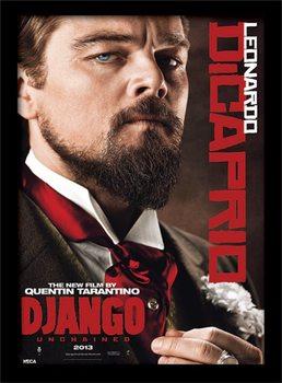 Django Unchained - Leonardo DiCaprio Poster emoldurado de vidro