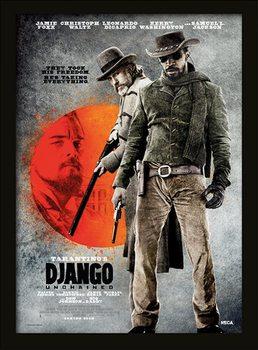 Django Unchained - They Took His Freedom Poster emoldurado de vidro