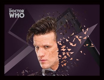 Doctor Who - 11th Doctor Geometric Poster emoldurado de vidro