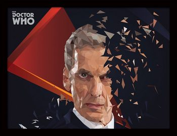Doctor Who - 12th Doctor Geometric Poster emoldurado de vidro