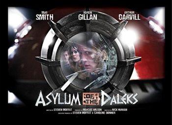 DOCTOR WHO - asylum of daleks Poster emoldurado de vidro