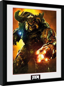 Doom - Cyber Demon Poster Emoldurado
