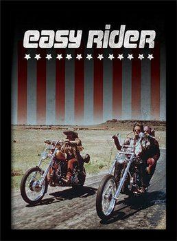 EASY RIDER - riders Poster emoldurado de vidro