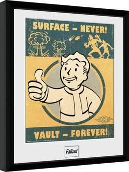 Fallout 4 - Vault Forever Poster emoldurado de vidro
