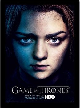 GAME OF THRONES 3 - arya Poster emoldurado de vidro
