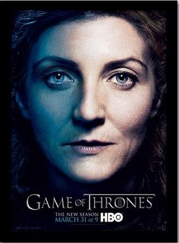 GAME OF THRONES 3 - catelyn Poster emoldurado de vidro