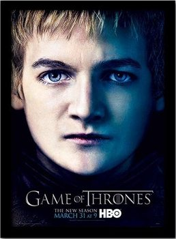 GAME OF THRONES 3 - joffery Poster emoldurado de vidro