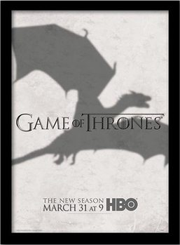 GAME OF THRONES 3 - shadow Poster emoldurado de vidro