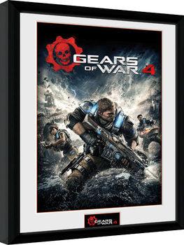 Gears of War 4 - Game Cover Poster emoldurado de vidro